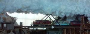Skunk Train crossing an A Frame bridge