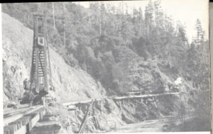 CWR track by Noyo River with Pile Driver