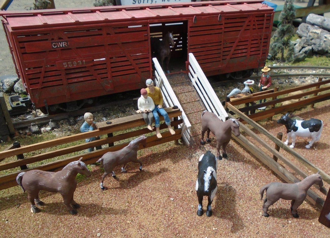 Horses unloading at Ranch
