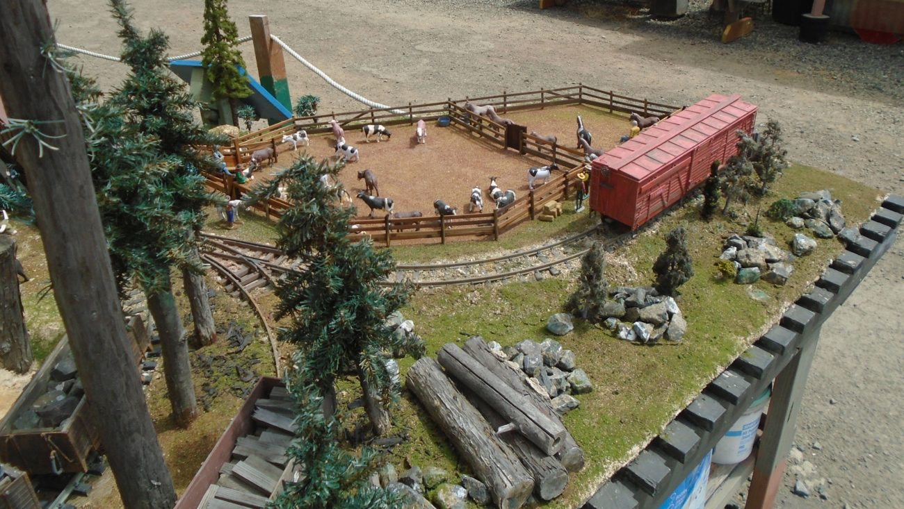 The cattle and horse corrals