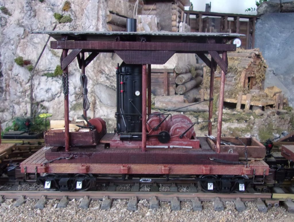 The donkey engine replete with canopy