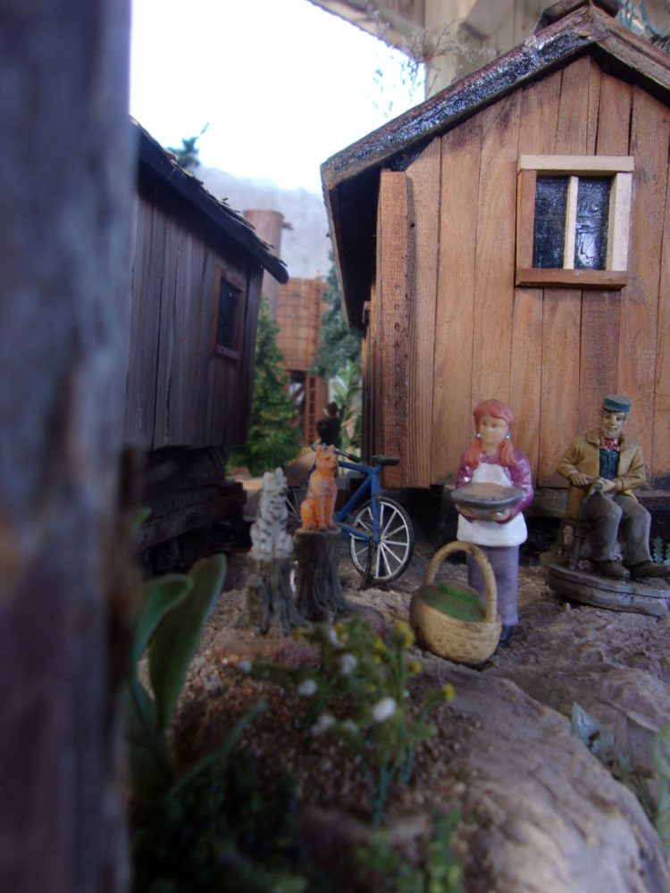Detail from the logging camp