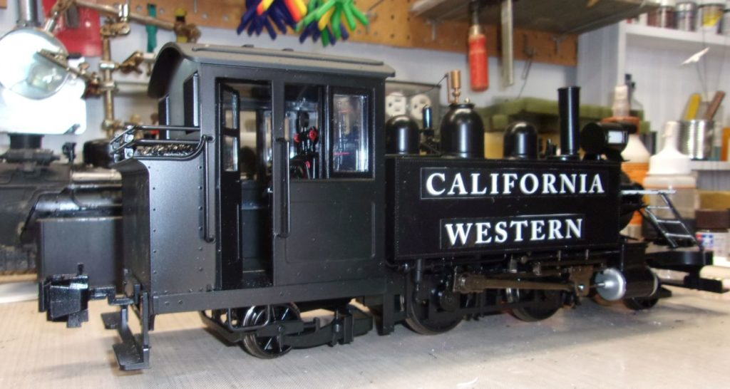 G Scale 2-4-2T with CWR name added