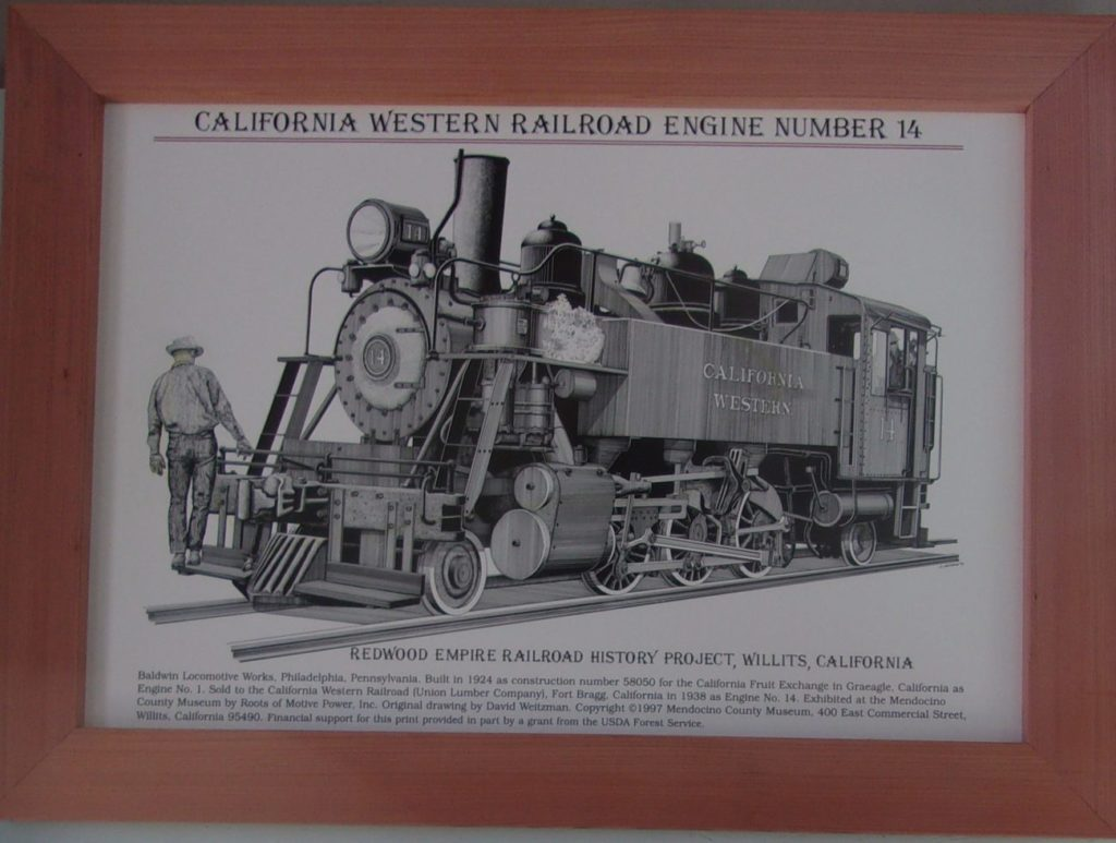 Print of CWR Loco #14