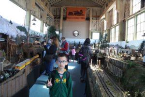Lincoln inside the Barn