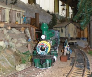 The Holiday Express has stopped at the loggers camp to pick up passengers