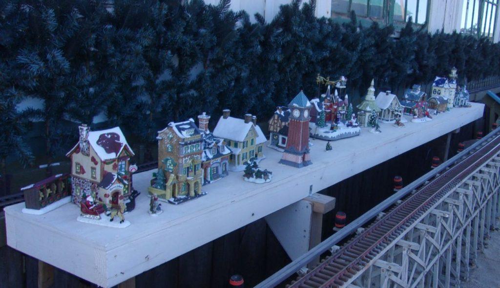 The east outside wall holiday season diorama