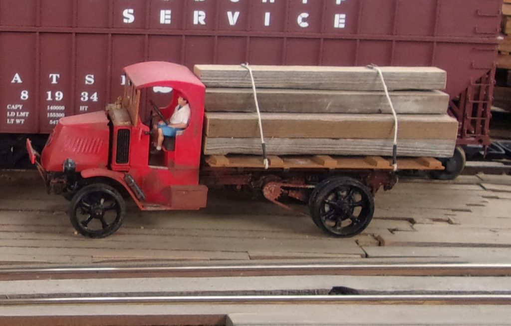 Close up of the Federal Truck showing chain drive