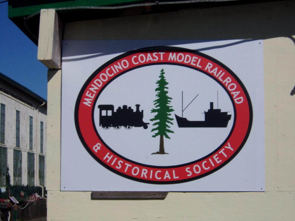 Mendocino Coast Model Railroad & Historical Society Logo Sign