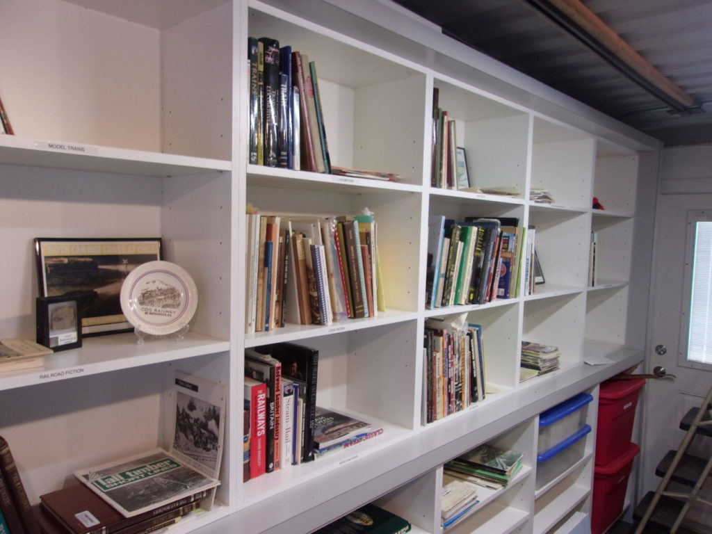 Bookshelves filling up with train books