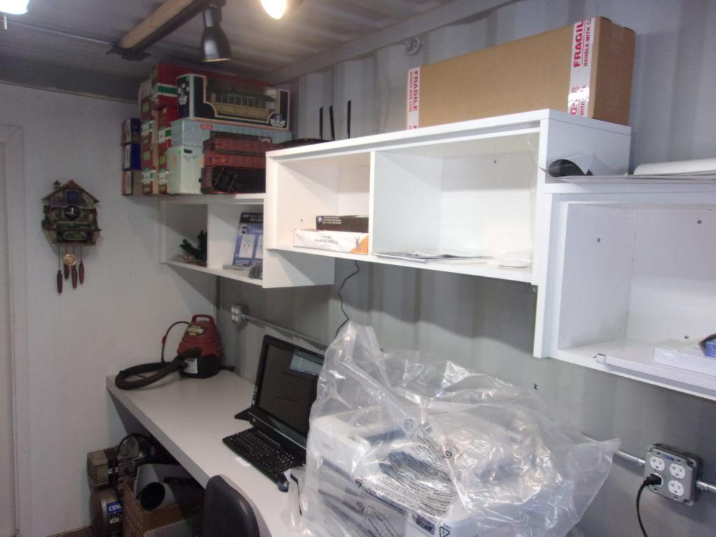 Shelves for computer, printing and laminating supplies