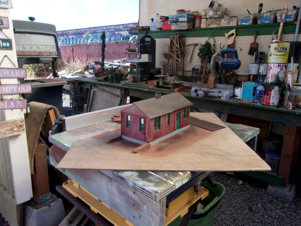 Phil Miller Lumber Company Office on the work bench